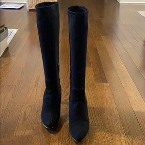Aquatalia Rhumba suede high heel boots US size 8
